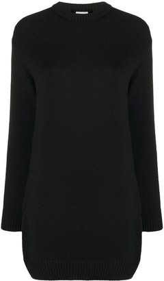 Saint Laurent Cashmere Long-Sleeve Knitted Dress