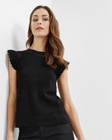 Ted Baker Cutout scalloped top