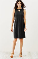 J. Jill Wearever Pleated-Back Sleeveless Dress
