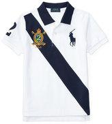 Ralph Lauren Cotton Mesh Sash Polo Shirt, White, Size 2-4