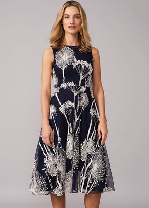 Phase Eight Franchesca Floral Fit And Flare Dress