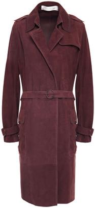 Victoria Victoria Beckham Belted Suede Coat