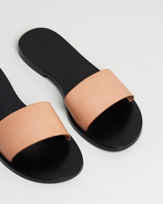 Atmos & Here Aileen Leather Slides