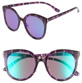 BP Women's 60Mm Mirror Lens Round Sunglasses - Multi