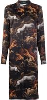 Alena Akhmadullina - 'Black Horse' shirt dress - women - Silk - 40