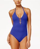 LaBlanca La Blanca Strappy Plunge One-Piece Tummy-Control Swimsuit