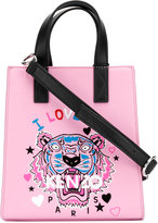 Kenzo I Love You Tiger tote - women - Cotton/Calf Leather/Nylon - One Size