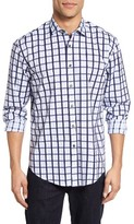 James Campbell Men's Sully Regular Fit Check Sport Shirt