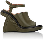Marni WOMEN'S SCULPTED-WEDGE ANKLE-STRAP SANDALS-DARK GREEN SIZE 6