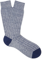 Pantherella - Hamada Mélange Ribbed-knit Socks