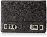 Nine West Gleam Team Slgs Wallet Foldover Clutch, Black, One Size