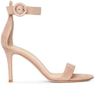 Gianvito Rossi Portofino 85 pink suede sandals