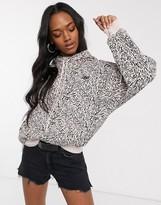 Levi's zebra print pullover hoodie in multi