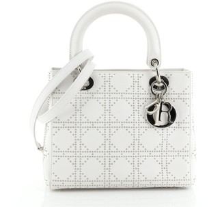 Christian Dior Lady Bag Cannage Studded Leather Medium