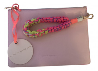 Sophia Webster Pink Leather Clutch bags