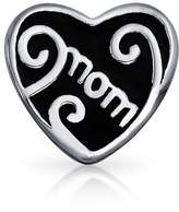Bling Jewelry 925 Silver Mom Heart Bead Mother Charm Pandora Compatible