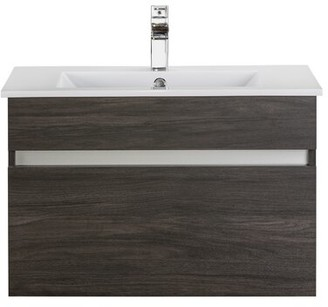 Wood Grain Ivory Floating 30 Single bathroom Vanity Cutler Kitchen & Bath Base Finish: Dark Wood Brown
