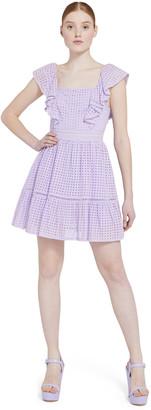 Alice + Olivia Remada Ruffle Mini Dress