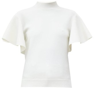 Chloé Fluid-sleeve Knitted Top - Ivory