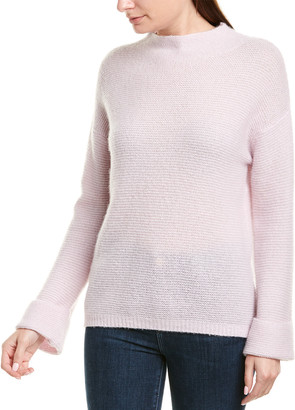 Minnie Rose Mock Cashmere & Silk-Blend Sweater
