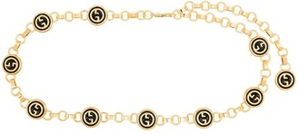 Gucci Logo-Embellished Gold-Tone Chain Belt