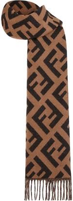 Fendi jacquard knit FF logo scarf
