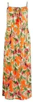 Dorothy Perkins Womens Orange Tropical Print Maxi Dress, Orange
