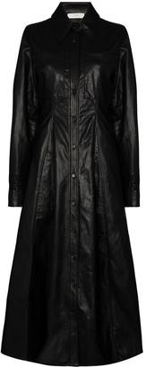LVIR Faux Leather Midi Dress