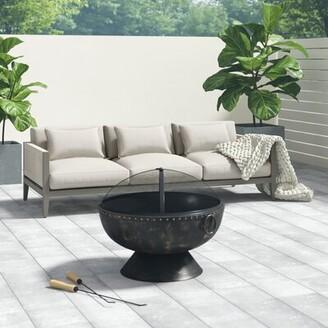 """Greyleighâ""""¢ Almyra Patio Sofa with Cushion Greyleigha Cushion Color: Canvas Crimson"""