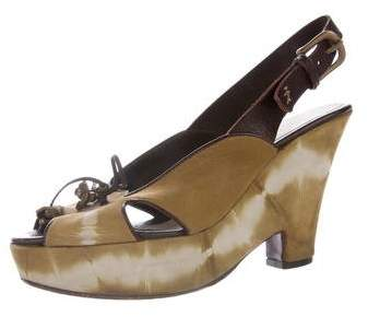 Henry Beguelin Leather Tie-Dye Wedges