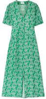 RIXO London - Jackson Floral-print Crepe De Chine Midi Dress - Green