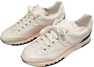 Hermã ̈S HermAs Polo White Leather Trainers