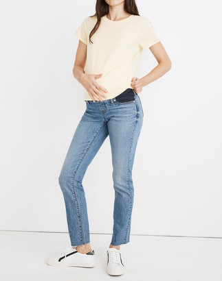 Madewell Maternity Side-Panel Perfect Vintage Jeans in Enmore Wash: Adjustable Edition