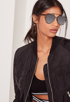 Missguided Metal Frame Sunglasses Black