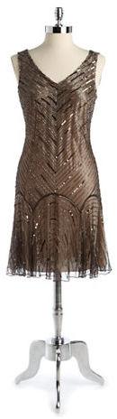 J Kara Sequined Cocktail Dress