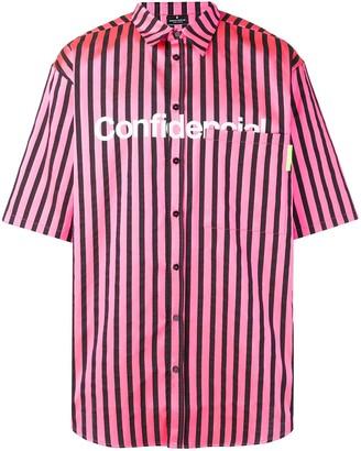 Marcelo Burlon County of Milan Striped Oversized Shirt