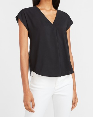 Express Short Sleeve V-Neck Top