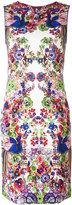 Roberto Cavalli allover print fitted dress