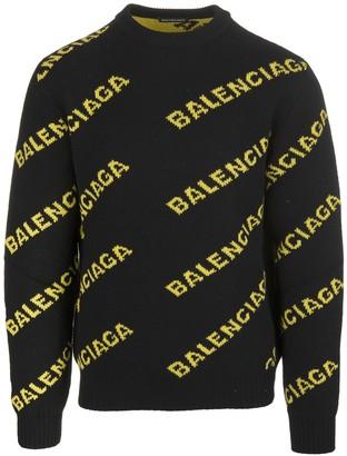 Balenciaga Black Men's Sweaters | Shop the world's largest