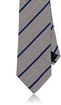Ermenegildo Zegna Men's Diagonal-Striped Silk Necktie-PINK