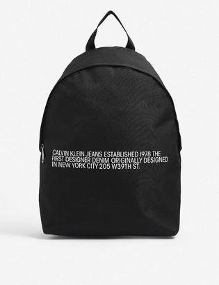 Calvin Klein Round canvas backpack