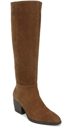 Naturalizer Leather Tall Wide Calf Boots - Fae