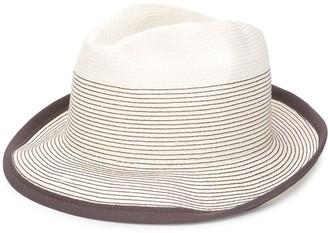 Peserico Striped-Stitch Trilby Hat