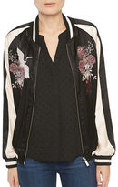 Sanctuary Silk Embroidered Bomber Jacket