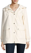 Kate Spade Solid Cotton-Blend Hooded Jacket