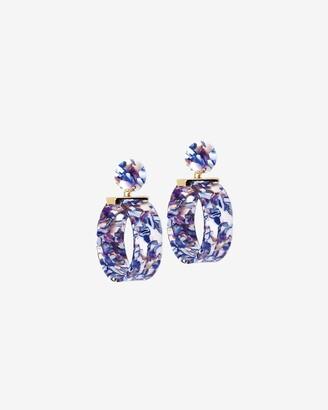 Express Lola Ade Blue Globe Drop Earrings