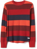 Gap Bright stripes waffle-knit tee