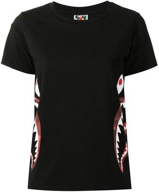A Bathing Ape Side Shark print T-shirt