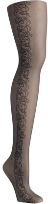 Hanes Tattoo Floral Control Top Fashion Tights