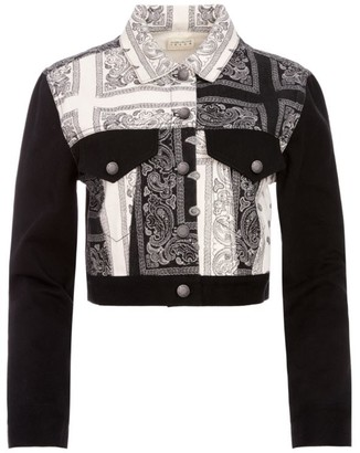 Alice + Olivia Bandana Patchwork Denim Jacket
